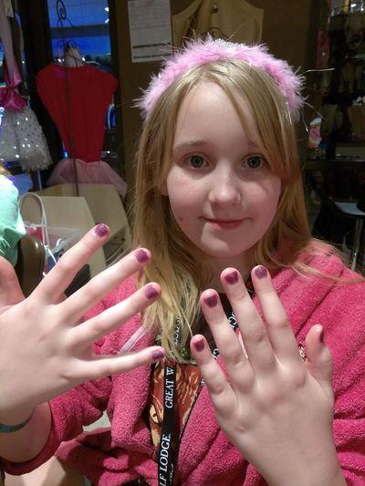 Human Body Part Human Hand Pink Color Fingernail Nail Polish Spa Childhood Child Nails Done People Blond Hair Girls Indulgence Friendship