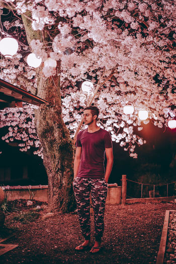 // PINK LOVE // AMPt_community Cherry Blossoms Fashion Flower Japan Japan Photography Model Nature Nature_collection Neon Night Nightphotography Outdoors People Pink Pink Color Portrait Portraits Sakura Sakura2017 Standing Tree Ultimate Japan Welcome To Black Young Adult
