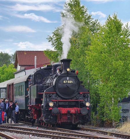 Steam Train Locomotive Railroad Track