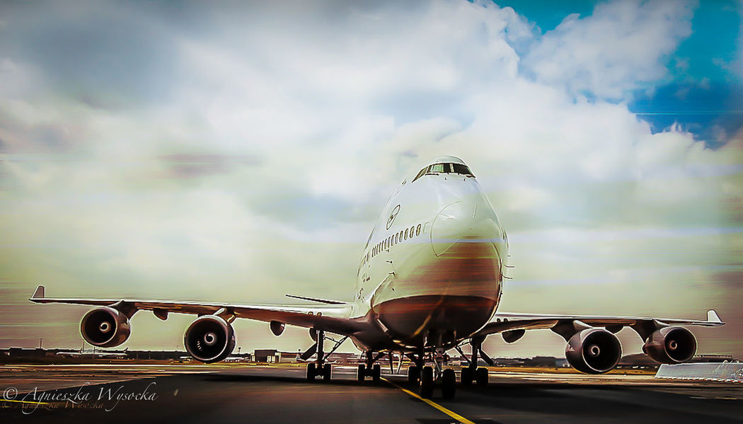 Come Fly With Me - FRAport 747 Air Vehicle Airport Airportphotography Apron Aviation Aviationphotography Boeing Boeing 747 Cloud - Sky Dramatic Sky Engine Face To Face First Eyeem Photo Fraport Lufthansa LufthansaGroup Mode Of Transport On The Move Runway Skyporn Soft The Traveler-2016 Awards Top Perspective Transportation
