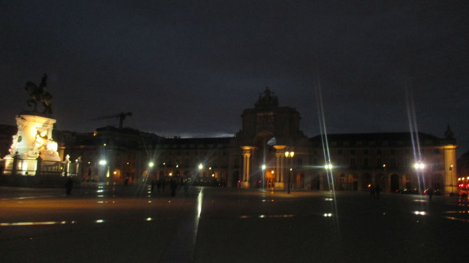 Architecture Beautiful Lisbon Blur Lights Blurred Motion Building Exterior Built Structure City Commerce Square In Lisbon Evening In Lisbon Gretings From Lisbon Illuminated Large Square Lisbon Lisbon By Night Lisbon Center Monuments Night Night Lights No People Outdoors Postcard Sky Statue Street Light Street Lights
