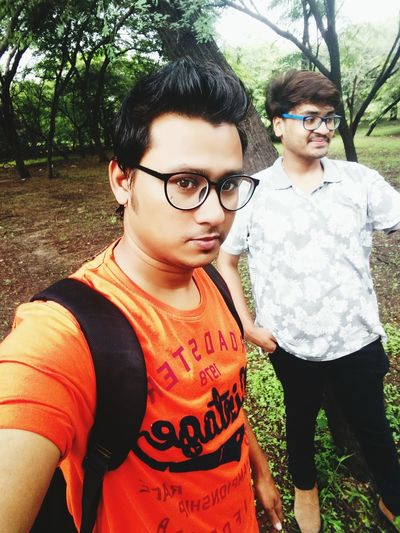 With friend...
