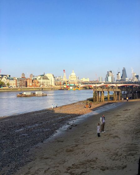 London Beach Water Architecture StPaulscathedral Thames River