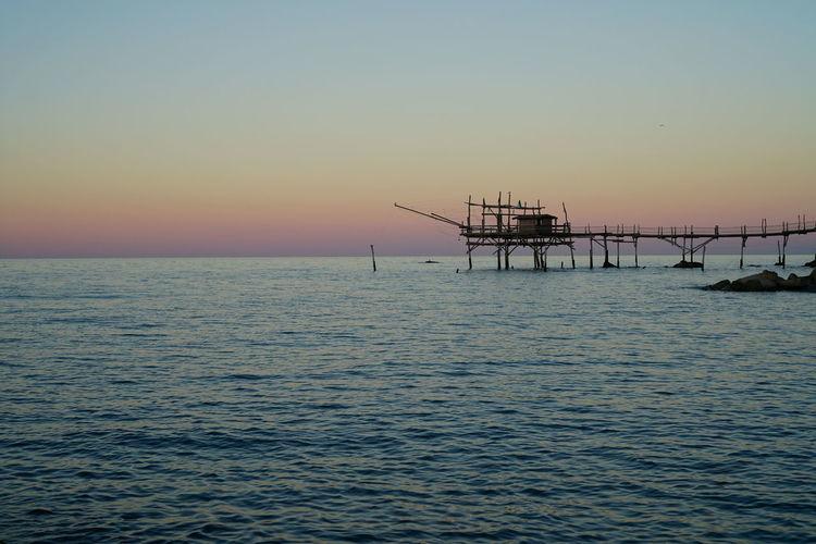 Crabs San Vito Chietino San Vito Marina Sea Sea And Sky Sky Sunset Sunset_collection Trabocchi Trabocco Trabocco Turchino Water