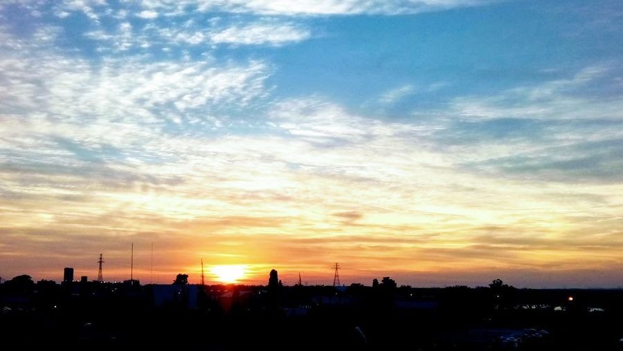 Dawn colors Dawn Colors City Cityscape Sunset Urban Skyline Dramatic Sky Sky Cloud - Sky