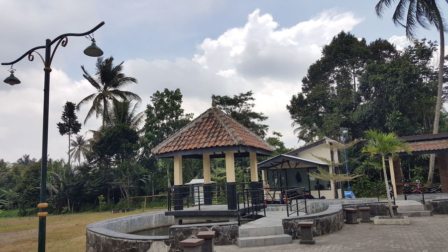 dojo in kaliurang state jogja Exploreindonesia Beautiful Place Explore INDONESIA EyeEm Selects Building Pendopo Home Kaliurang Yogyakarta Photography Sky Water Reflections Tree Sky Architecture Building Exterior Cloud - Sky Built Structure Outdoor Play Equipment Statue Pavilion Slide A New Beginning