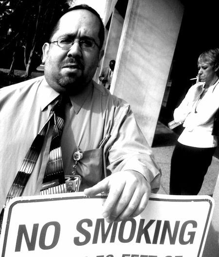 Arlington, Virginia Smoking Day Ignoring The Signs No Smoking Sign Opsecfunny Real People Text
