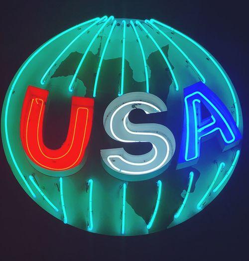 Houston street neon Illuminated Communication Neon Sign Text Night The Traveler - 2018 EyeEm Awards No People Technology Black Background Glowing Blue Green Color Information Sign The Street Photographer - 2018 EyeEm Awards