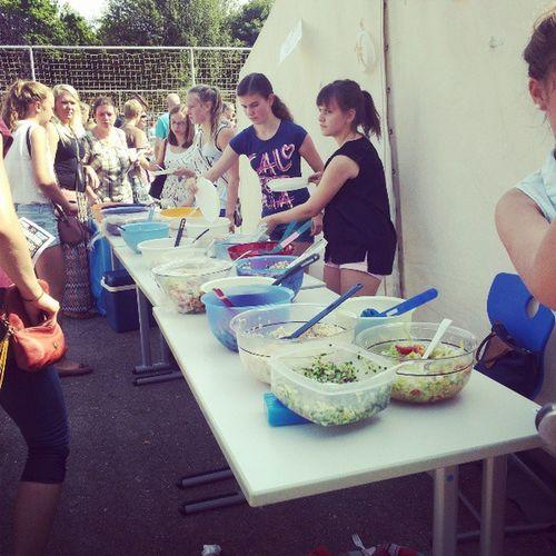 Schulfest Salate Klasse