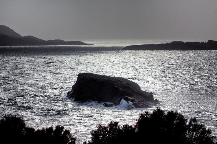 View from the Temple of Poseidon. Water Sea Scenics - Nature Beauty In Nature Sky Rock Nature Rock - Object No People Land Tranquility Mountain Beach Solid Tranquil Scene Rock Formation Outdoors Motion Day Seascape Sea And Sky Island