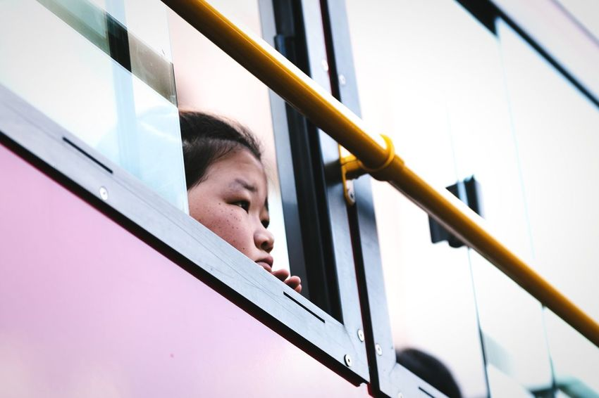 Observing Headshot Close-up Low Angle View One Person People Person Bus Window Observing Girl Girls Child Children Young Girl Asian Girl Innocence Looking Out Of The Window Korean Cuteness Lifestyles Tourist Windows From My Window Faces Of EyeEm Snap A Stranger