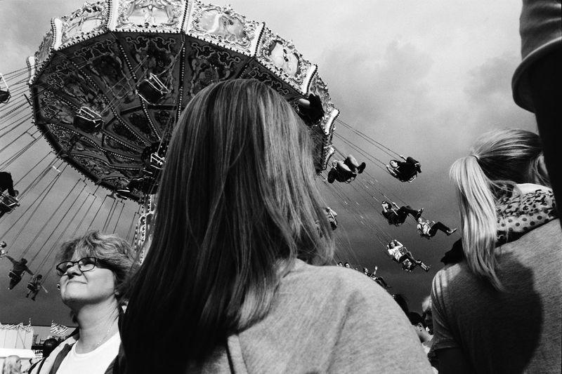 EyeEm Selects Amusement Park Amusement Park Ride Day Low Angle View Street Photography Streetphotography Blackandwhite Monochrome Leicacamera Leicam6 ELMARIT-M 28mm F2.8 Film Film Photography Filmisnotdead Kodak Tmax400 The Week On EyeEm