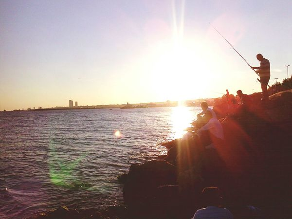 Turkey Istanbul Istanbul Turkey Sunset Water Tourist Fishing Istanbul - Bosphorus Türkiye ıstanbul
