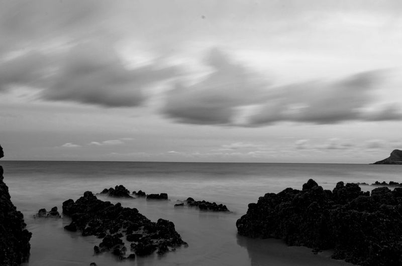 Nikon Rugged Wales Beach Blackandwhite Clouds Long Exposure Rugged Landscape