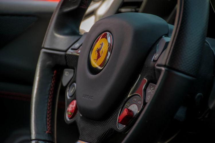 FERRARI 488 SPIDER Ferrari Ferrari Museum Ferrari Logo Ferrari Steering Wheel Ferrari Stuur Museo Ferrari Car Car Interior No People Steering Wheel