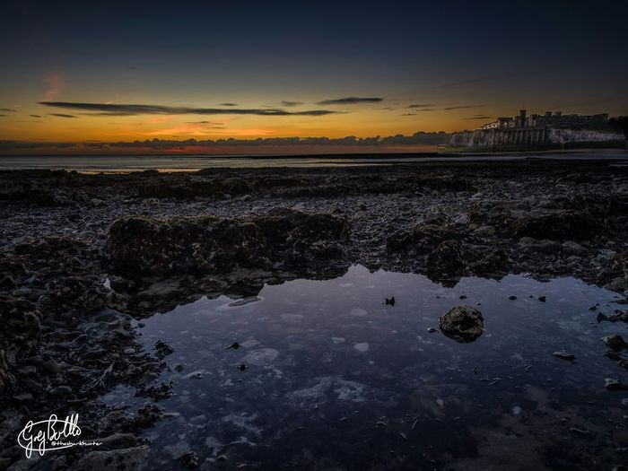 Kingsgate Castle just before sunrise yesterday. Sunrise Broadstairs Uk Cloud And Sky Landscape Seascapes EyeEm Best Shots Kingsgate EyeEm Best Shots - Sunsets + Sunrise EyeEm Best Shots - HDR