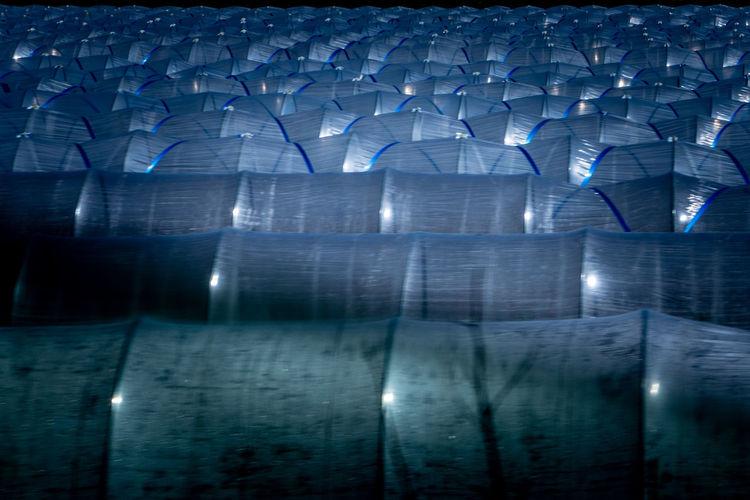 Digital composite image of illuminated building