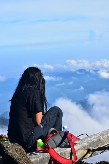 Mountain gede bogor indonesia Hiking Mount Gede Gunung Gede INDONESIA Camping EyeEm Gallery EyeEm Best Shots EyeEm Travel Summit Attack Go Higher One Person Only Women One Woman Only Adults Only Sitting People Adult Day Women Outdoors Sky Full Length One Young Woman Only