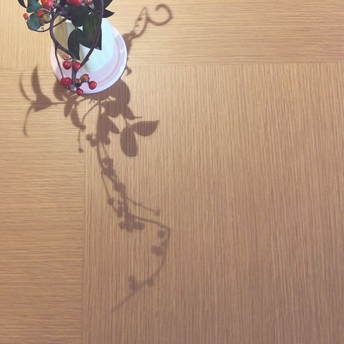 High angle view of person on table