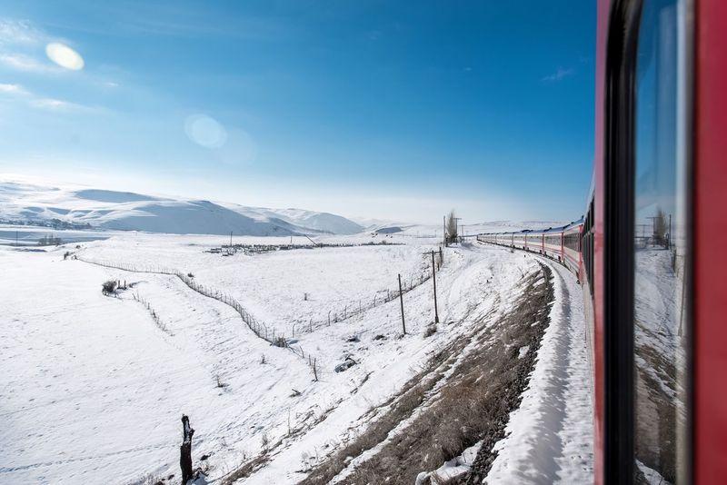 Doğu Ekspresi Snow Winter Cold Temperature Transportation Nature Weather Beauty In Nature Rail Transportation Tranquil Scene Scenics