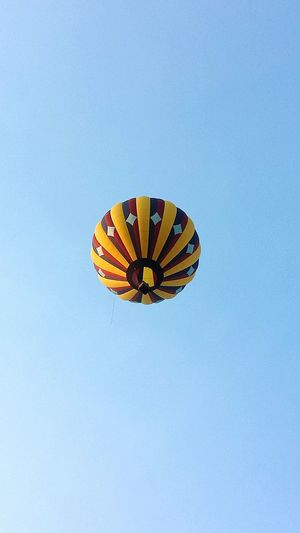 Low Angle View Blue Clear Sky Hot Air Balloon Ballooning Festival