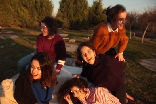 On a clear day Smiling Outdoors Group Of People Young Women Young Adult Togetherness Women Cheerful Happiness Lifestyles Autumn Portrait Friendship Day