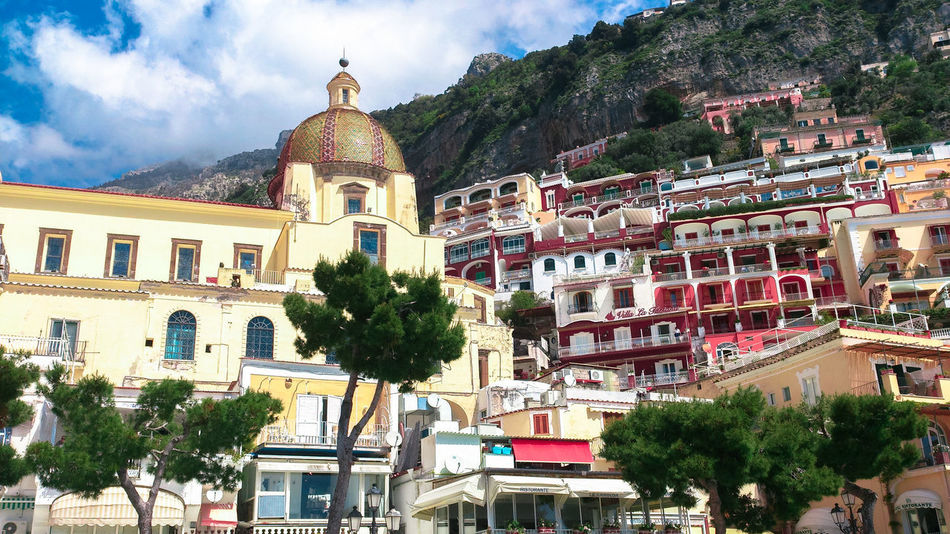 Positano Italy Architecture Building Exterior City Cloud - Sky Day Italy❤️ Nature No People Outdoors Sky Spirituality Travel Destinations Tree
