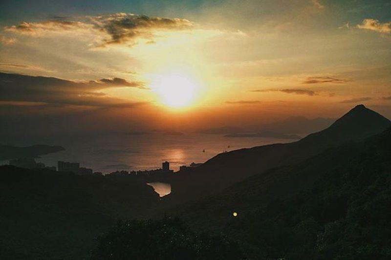 Goodbye Hong Kong Sunset Beautiful Sky HongKong