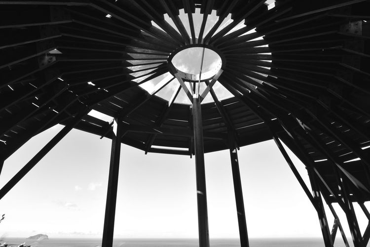Round landscaped buildings, special perspectives. Elevation Especially Natural Perspective Shape Wood Abstract Angle Architecture Art Black And White Building Built Structure Close-up Creative Day Indoors  Landscape Low Angle View No People Pattern Round Sky Visual