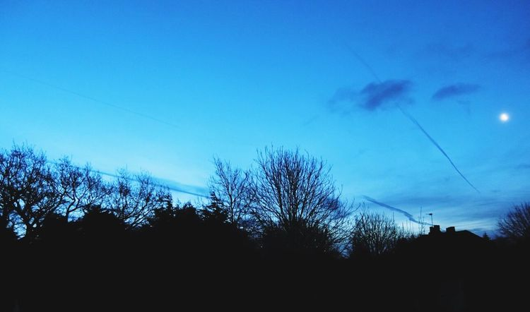 Clouds And Sky Cloudstreaks Moonlit Early Morning Blue Sky Nature Nature_collection Nature On Your Doorstep Window View