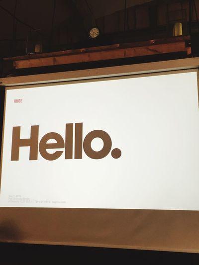 Hello @ HUGE Pop Up Store Thanxx Guys Roadshow Sharing Innovation Knowledge