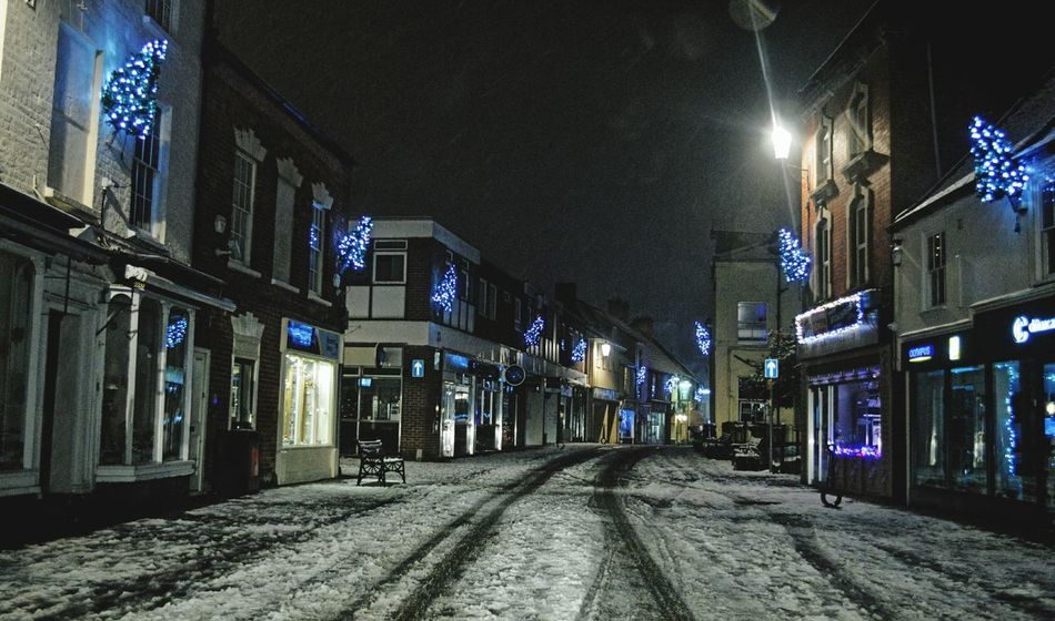 My Home Town Dursley Gloucestershire Night Lights Architecture Built Structure Building Exterior No People