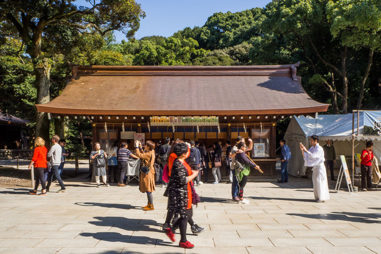 Meiji Shrine , Tokyo, Japan - OCTOBER 27 2017 : located in Shibuya, Tokyo, Tokyo Japan Japan Temple Japanese  Meiji Shrine Meiji Shrine Gyoen Temple Temple - Building