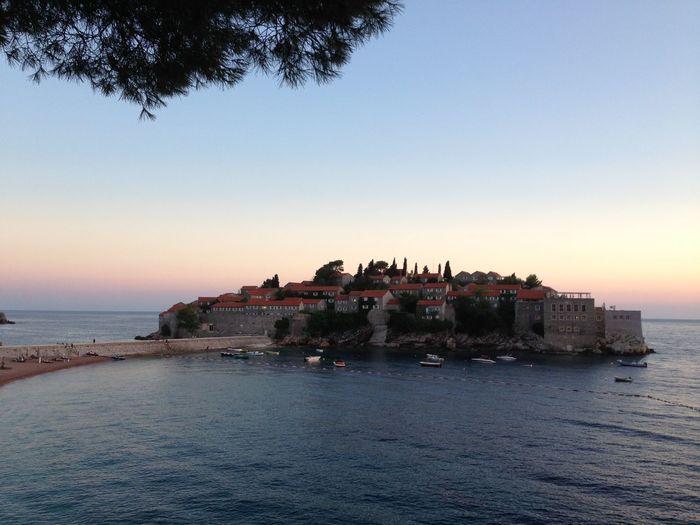 Sveti Stefan Island Luxury Sea Summertime In Montenegro Sunset Luxury Island