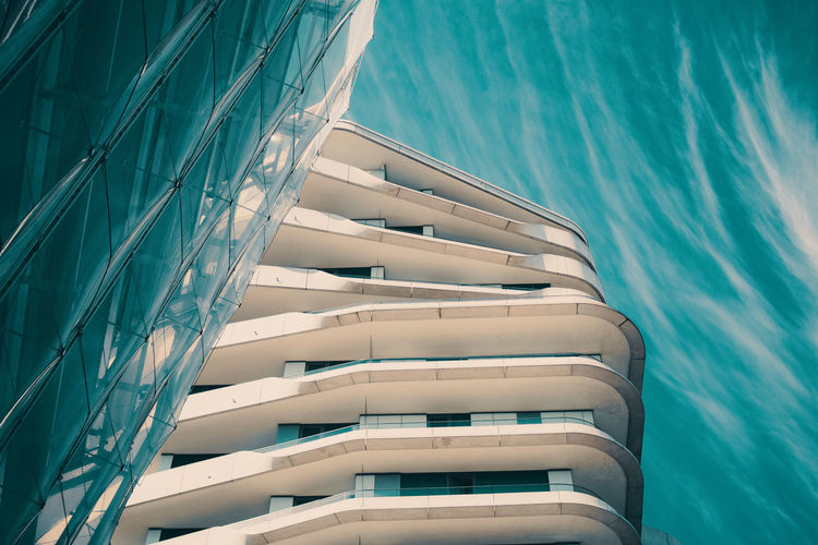 WAVES Nature Architecture No People Built Structure Day Outdoors Water Sea Nautical Vessel Blue High Angle View Sunlight Building Exterior Ship Transportation Building White Color Sky Industry Turquoise Colored