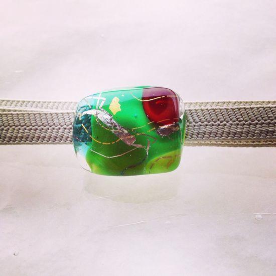 Glass Gold Leaf Traditional Craft Handmade Jewellery Sash Clip Obidome Art 帯留め 截金 工芸 Craft