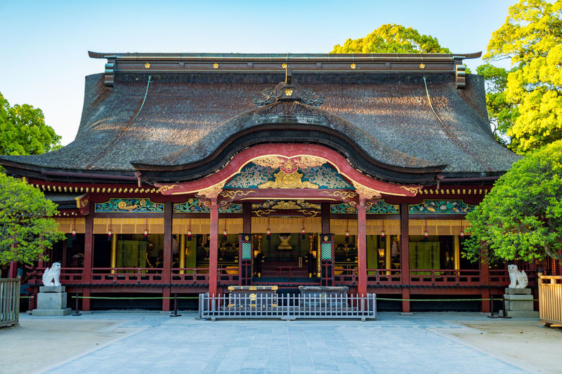 Ancient Civilization Architecture Building Exterior Built Structure City Cultures Day Dazaifu History No People Outdoors Place Of Worship Roof Royalty Sky Travel Destinations Tree