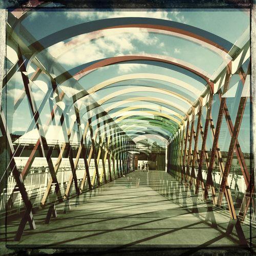 Avilés Double Exposure Colours Bridge