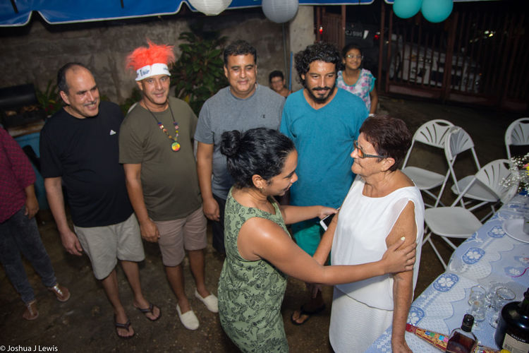 Stillife Trinidad And Tobago Caribbean 75th Birthdayparty Motherandchildren Family Time Mid Adult Beautiful People Togetherness Laughing Smiling