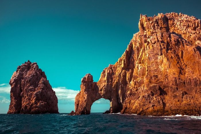 The Great Outdoors - 2017 EyeEm Awards San Cabo Lucas Rock Formation Rock - Object Natural Arch Scenics Outdoors Sea Beauty In Nature EyeEm Nature Lover Clear Sky Nationalgeographic Nature Geography Tranquility Drone  Waterfront On The Sea In The Sea San Cabo Lucas Mexico In Dream Movie Filming Anamorphic Scene We Seen In Movie Scenery Shots