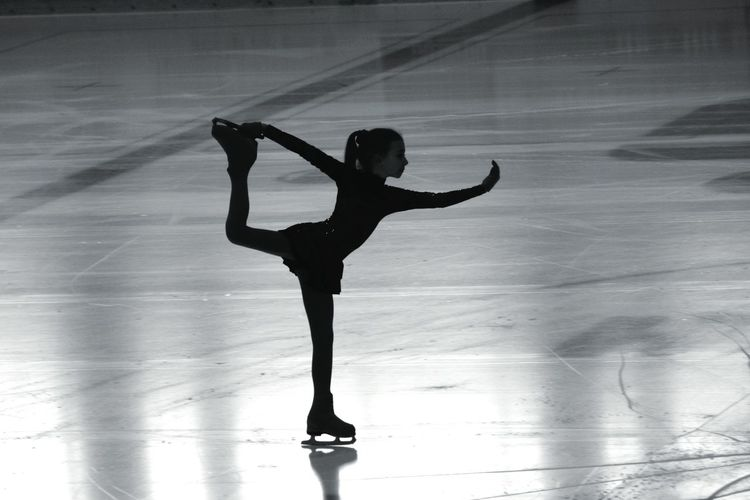 Blackandwhite Beauty EyeEmNewHere EyeEm Selects Beginner Ice Skating Ice Sports Photography Dancing Dancer Ballet Dancer Ballet One Person One Woman Only Performing Arts Event Flexibility Full Length One Young Woman Only Only Women Ice Rink Indoors  Skill  People Performance Inner Power