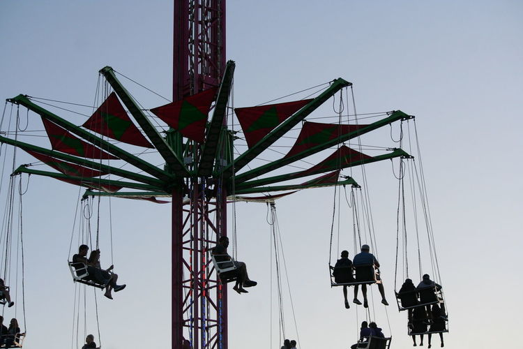 Low angle view of amusement park ride