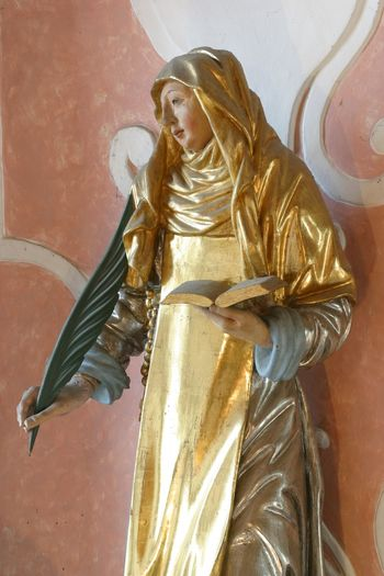 Saint Catherine of Siena Altar Art Belief Catherine Catherine Of Siena Christianity Church Croatia Faith Gold Colored Holy Place Of Worship Religion Religious  Saint Sculpture Siena Spiritual Spirituality Statue Worship