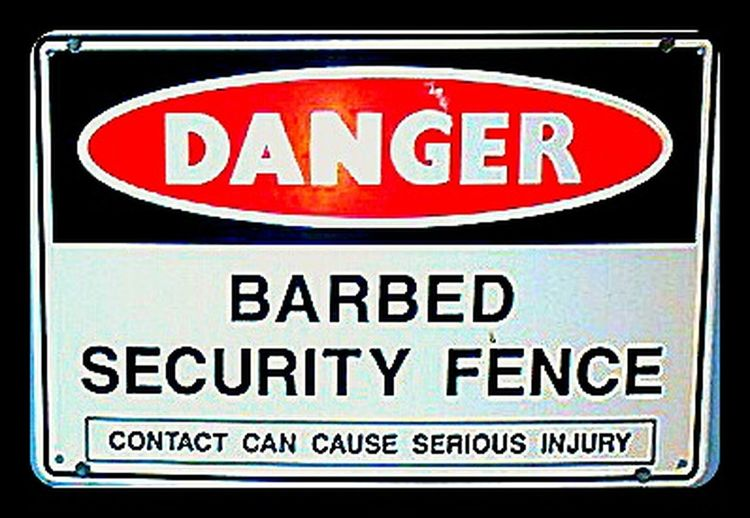 Danger Sign Barbed Wire Signporn Signs Signage Danger Sign Warning Sign Security Fence Signs Signs Everywhere Signs SignSignEverywhereASign Security Warning Barbed Wire Fence Barbedwirefence SignsSignsAndMoreSigns Dangerous Signs_collection Signs & More Signs Signs - Warnings Danger! Signstalkers Signs, Signs, & More Signs Barbed Security Fences Dangerous😎 Sign, Sign, Everywhere A Sign