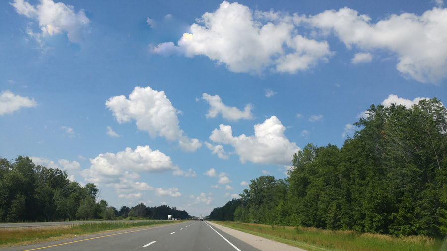Road Cloud - Sky The Way Forward Sky Day Outdoors Transportation Tree No People Nature Scenics Grass
