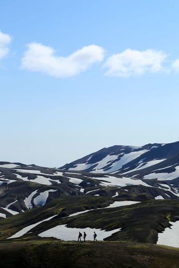 Hiking Iceland Snow ❄ Trekking Cold Temperature Field Hikingadventures Landscape Mountain Mountains Nature Outdoors People Scenics Snow