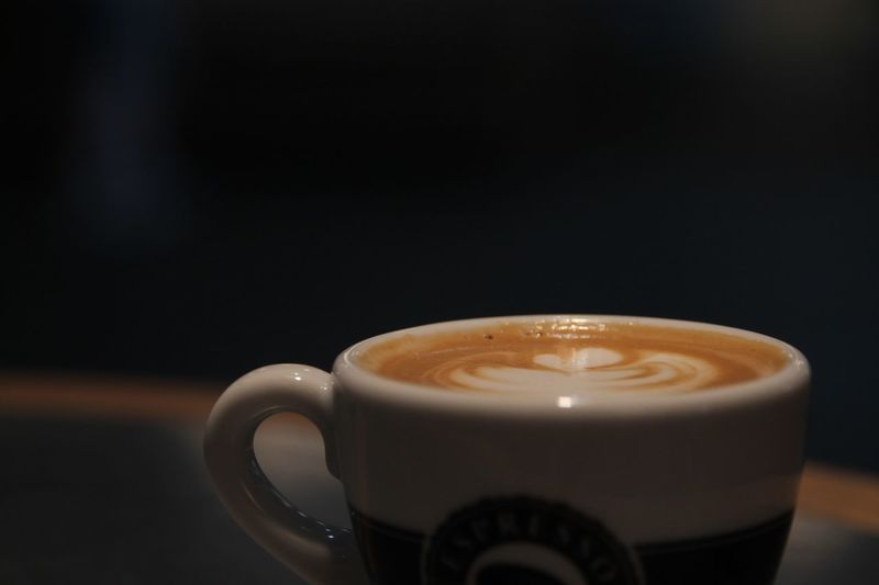 Close-up of coffee against black background