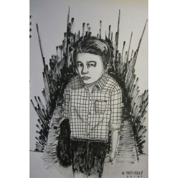 """Ulay"" Day 16 Inktober Doodle Murder Illustration"