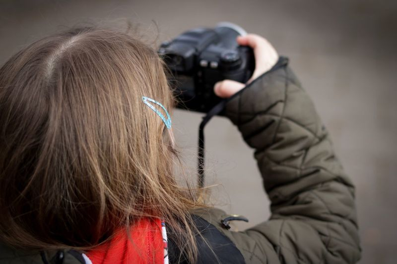 Adventures with a camera 4 One Person Real People Day Outdoors Warm Clothing camera Child Childhood Casual Clothing Cute