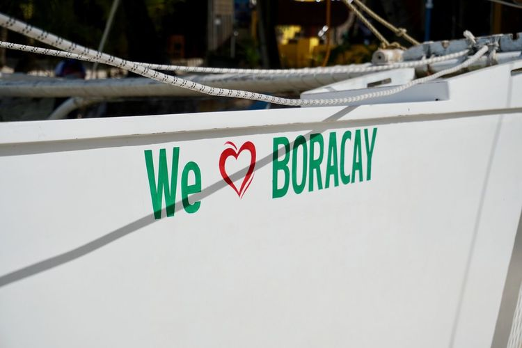 Philippines Boracay Boracay Philippines Boracay Island  Island Text Western Script Communication No People Sign Architecture Transportation Capital Letter Close-up Love